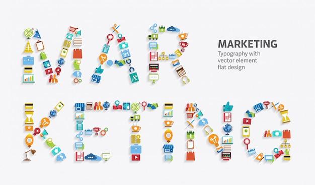 Marketing digitale Vettore Premium