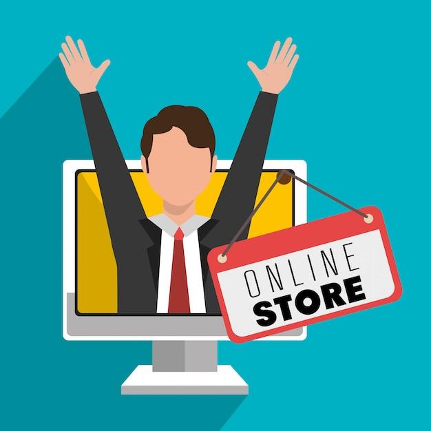 Marketing online e vendite di e-commerce Vettore gratuito
