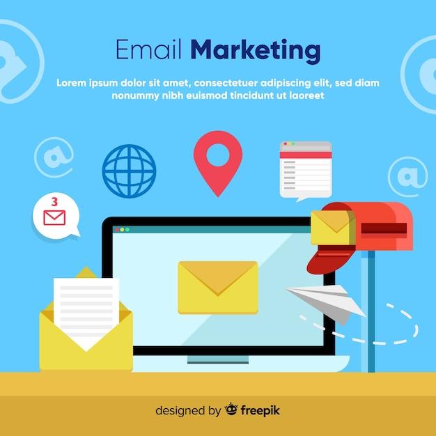 Marketing via email Vettore gratuito
