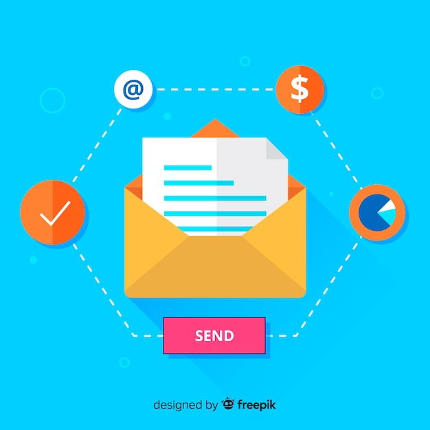 Marketing via email Vettore gratuito