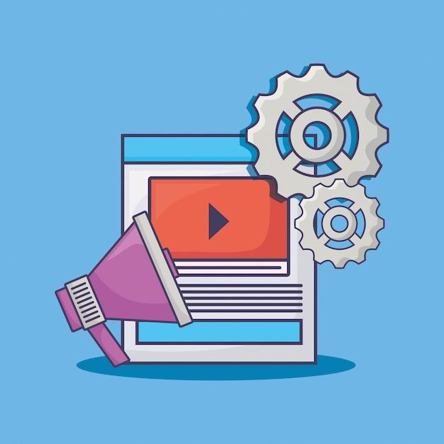 Marketing via email Vettore Premium