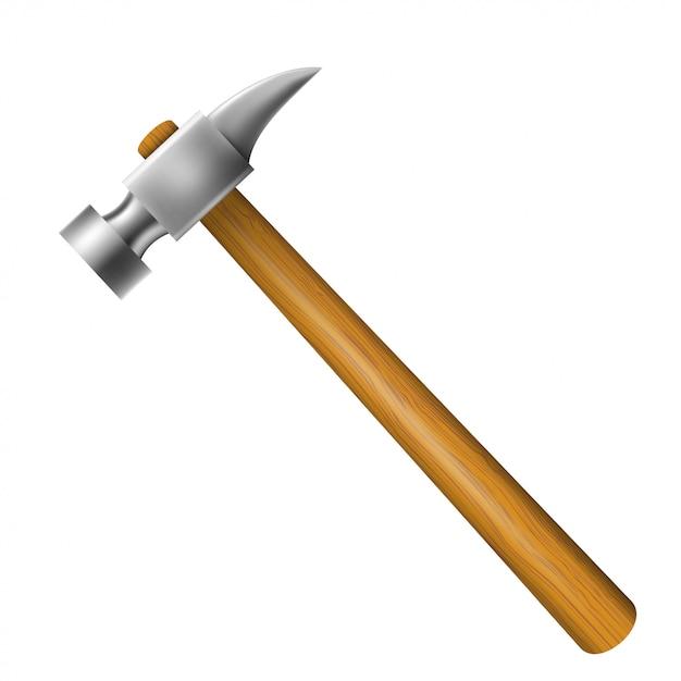 Martello con impugnatura in legno Vettore Premium