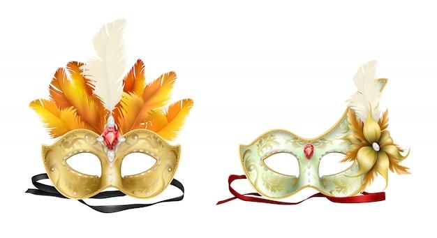 Maschera di carnevale di mardi gras Vettore gratuito