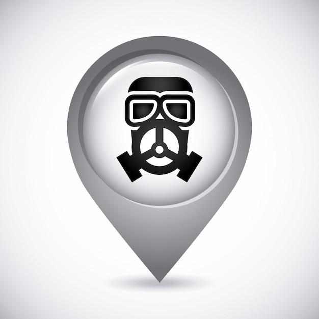 Maschera di gas Vettore gratuito