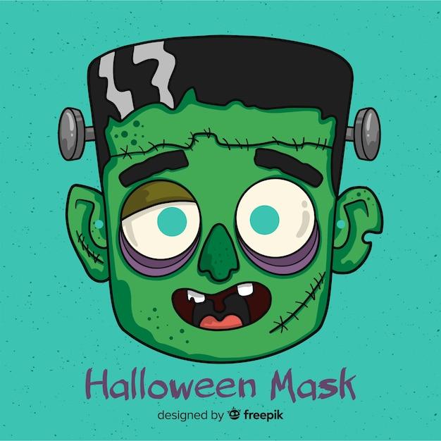 Maschera di halloween disegnata a mano raccapricciante Vettore gratuito