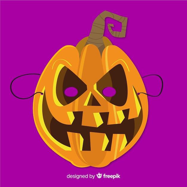 Immagine Zucca Di Halloween 94.Maschera Di Zucca Di Halloween In Design Piatto Scaricare Vettori