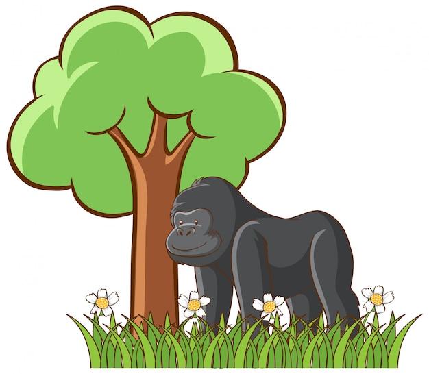 Maschera isolata di gorilla Vettore gratuito