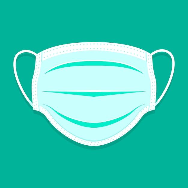 Maschera medica piatta illustrata Vettore gratuito