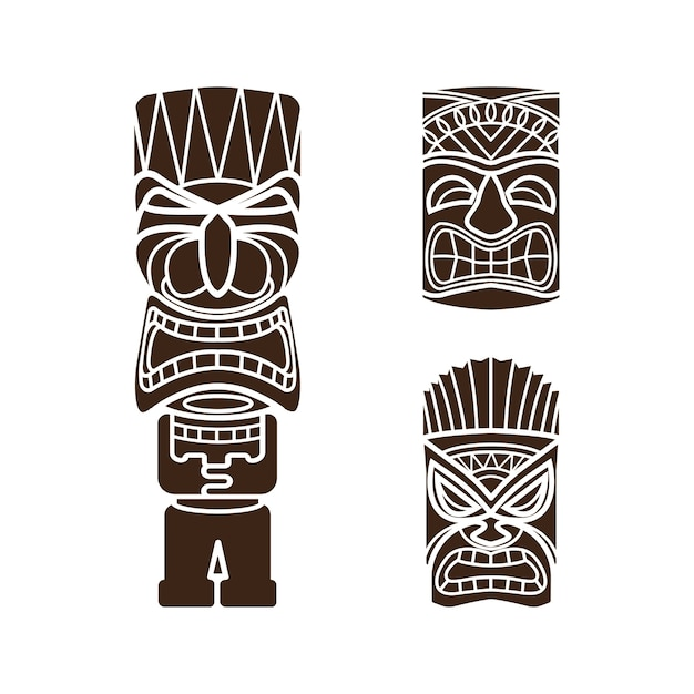 Totem Hawaiano. Stunning Cool Totem Pole Clipart Polynesian With ...
