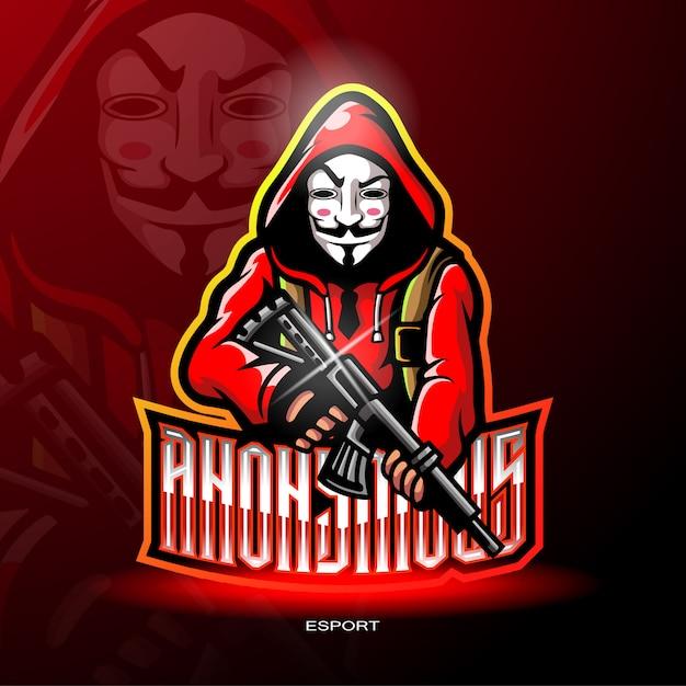 Mascotte di gangster per logo da gioco. Vettore Premium