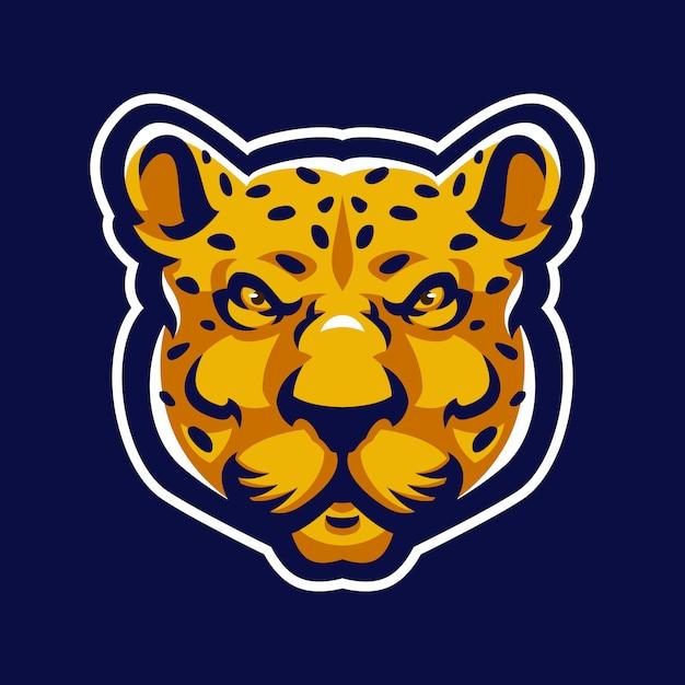 Mascotte leopardo logo sport. Vettore Premium