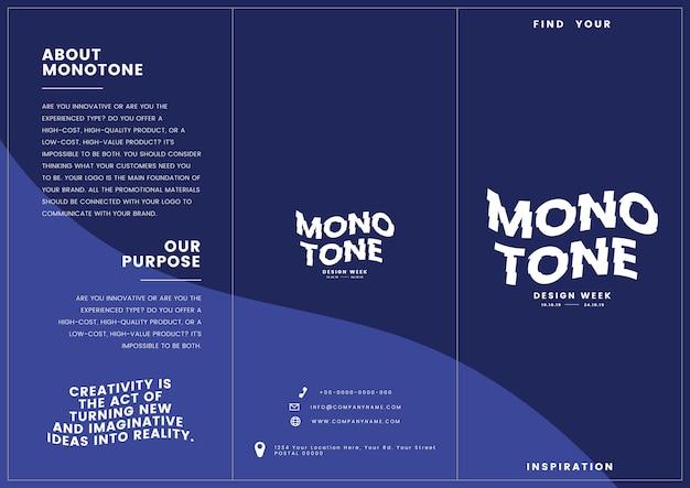 Materiale di marketing: modello di volantino Vettore gratuito