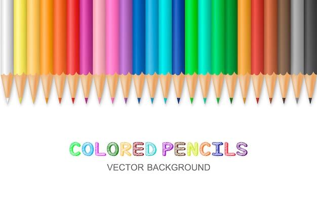Matite colorate vettoriali Vettore Premium
