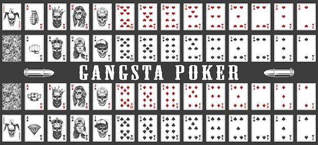 Mazzo di carte da gioco gangsta Vettore gratuito