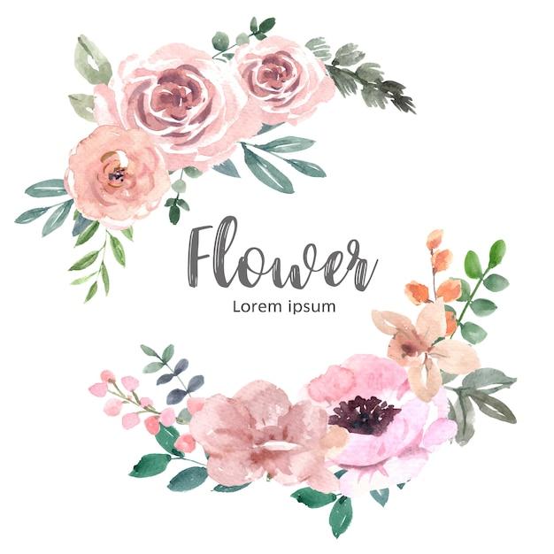 Mazzo per decorazione di copertina unica, fiori a tratto esotico Vettore gratuito