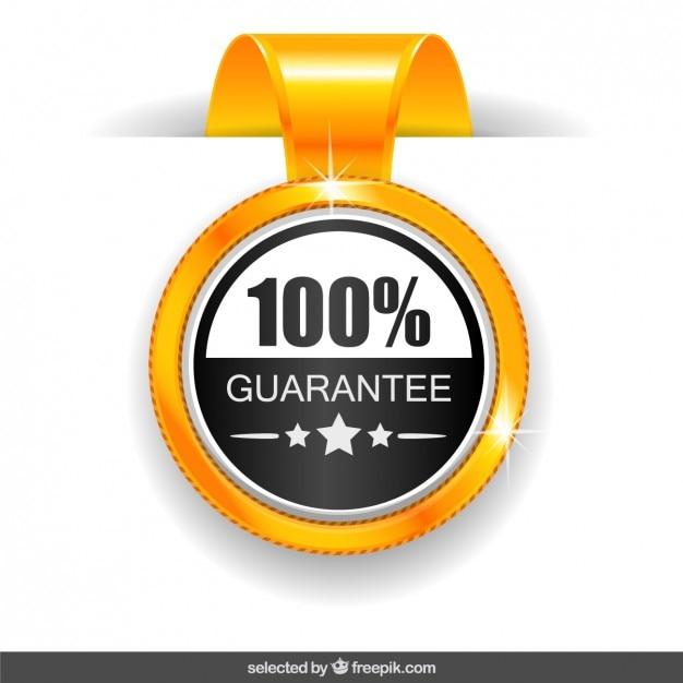 Medaglia garanzia 100% Vettore gratuito