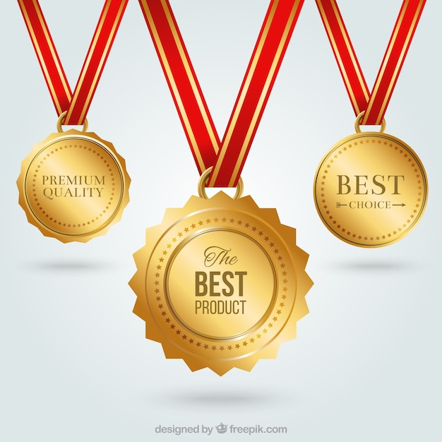 Medaglie d'oro Vettore gratuito