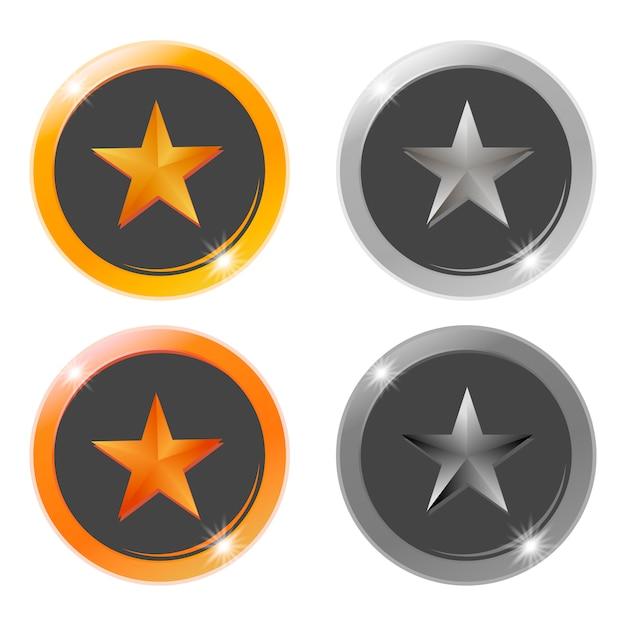 Medaglie vuote in oro, argento, bronzo e platino Vettore Premium