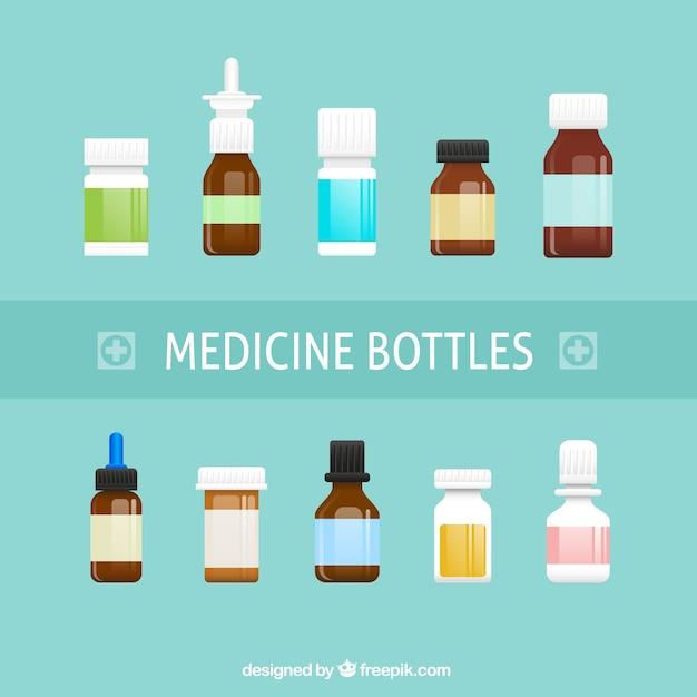 Medicina bottiglie Vettore gratuito