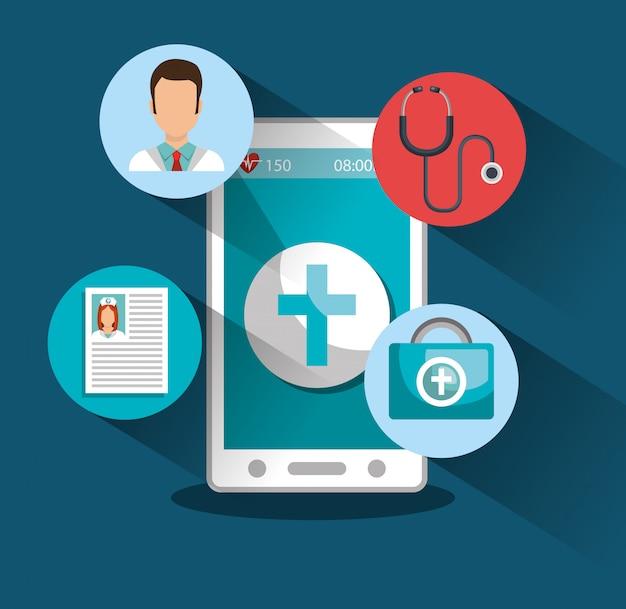 Medicina online Vettore gratuito