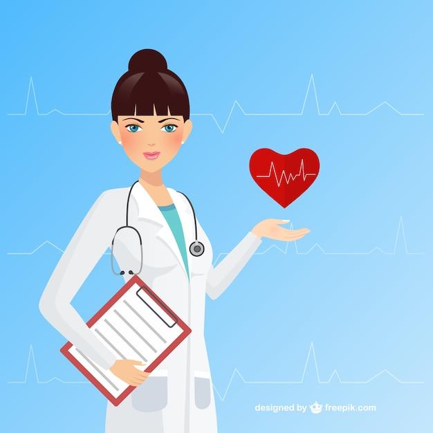 Medico femminile Vettore gratuito