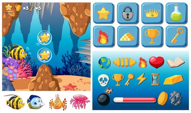 Mega pack di giochi subacquei Vettore Premium