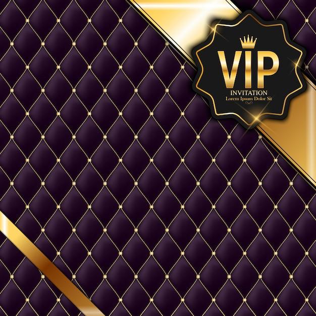 Membri di lusso, biglietto d'invito vip sfondo Vettore Premium