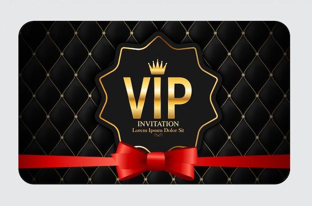 Membri di lusso, invito vip carta regalo Vettore Premium
