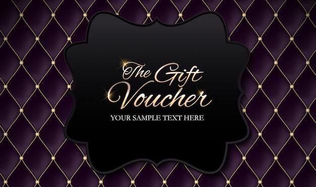 Membri di lusso, modello di buono regalo Vettore Premium