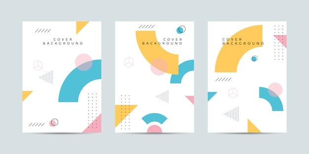 Memphis cover design Vettore Premium
