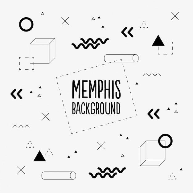 Memphis sfondo Vettore gratuito