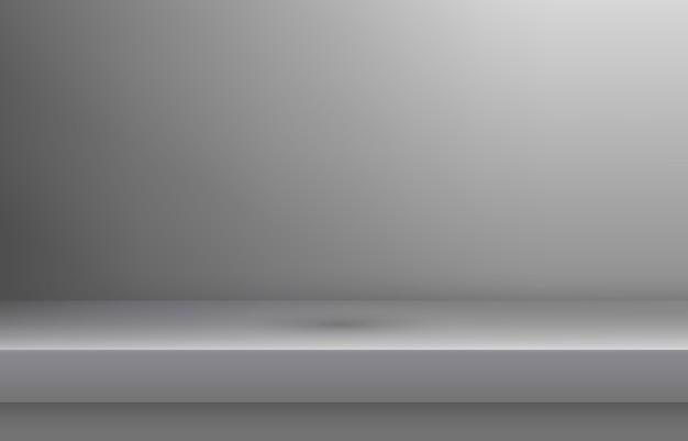 Mensola di colore bianco vuoto con ombra Vettore Premium