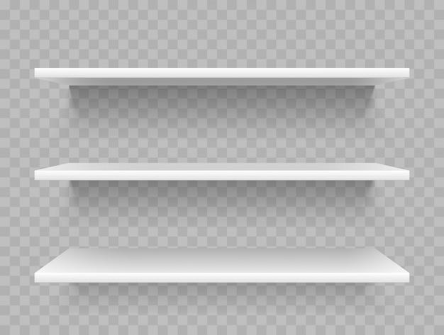 Mensole bianche vuote del prodotto Vettore Premium