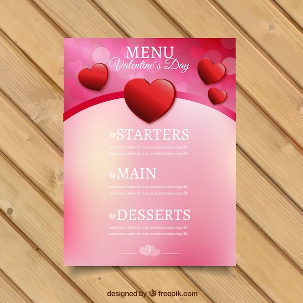Men del giorno di offuscata san valentino con cuori - Colore del giorno di san valentino ...