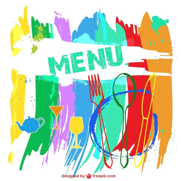 Menu del ristorante colorato Vettore gratuito
