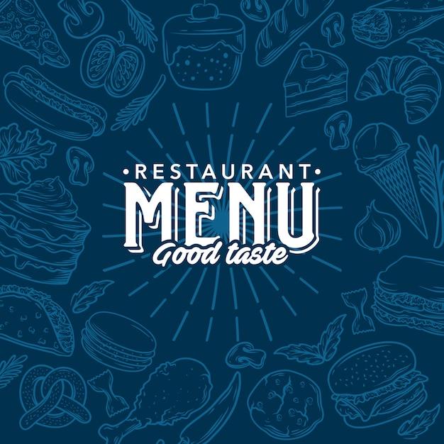 Menu del ristorante modello vettoriale stock Vettore Premium