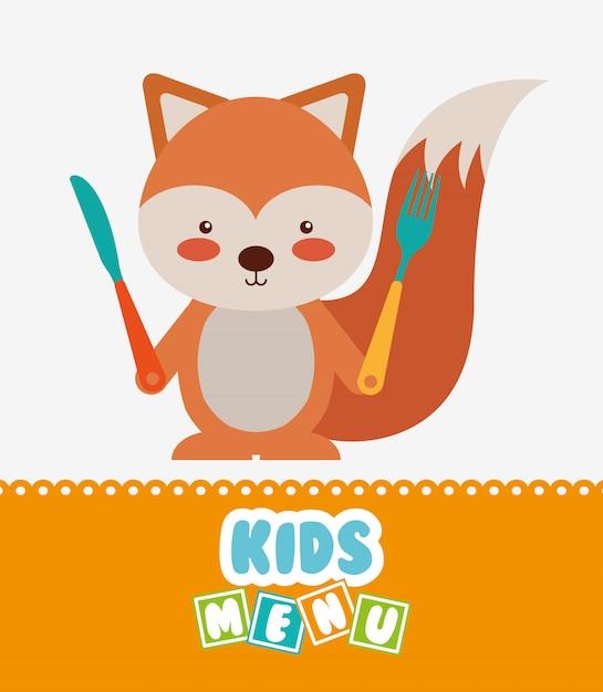 Menu design per bambini Vettore gratuito