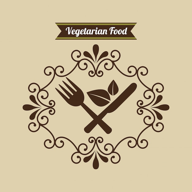 Menu di cibo vegetariano Vettore gratuito
