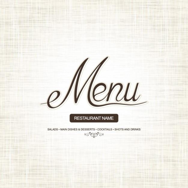 Menu di copertina design semplice e stile scaricare for Semplice creatore di piano gratuito
