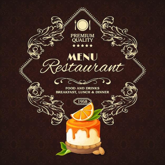 Menu ristorante dessert dolci Vettore gratuito