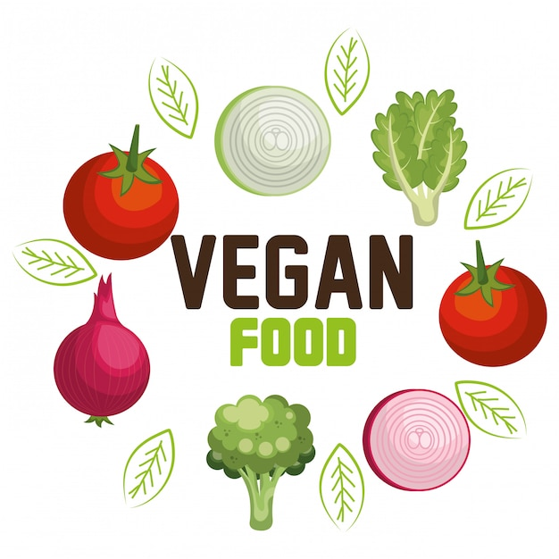 Menù vegetariano Vettore gratuito