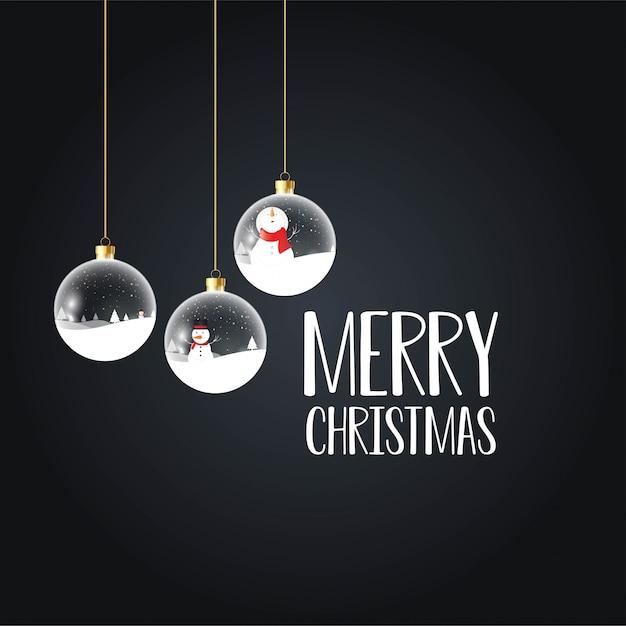 Merry christmas card con design creativo Vettore gratuito