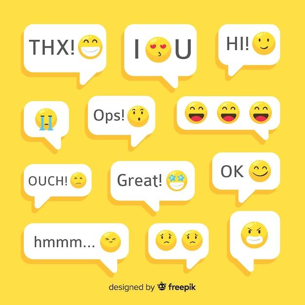 Messaggi con reazioni emoji Vettore gratuito