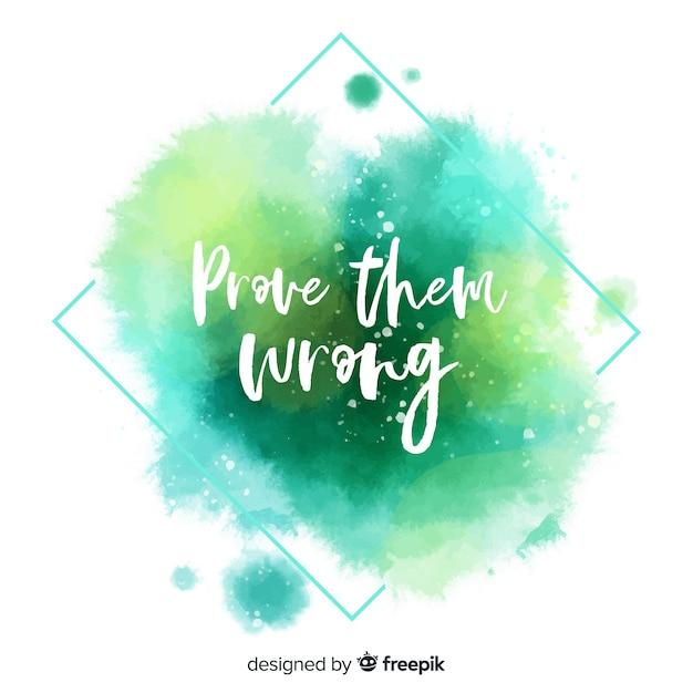 Messaggio motivazionale con scritte ad acquerello Vettore gratuito