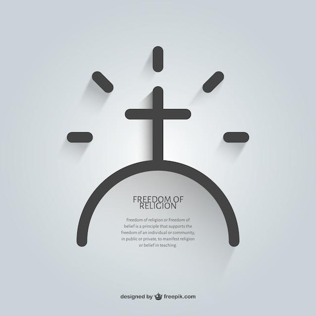 Messaggio religioso di template fede Vettore gratuito