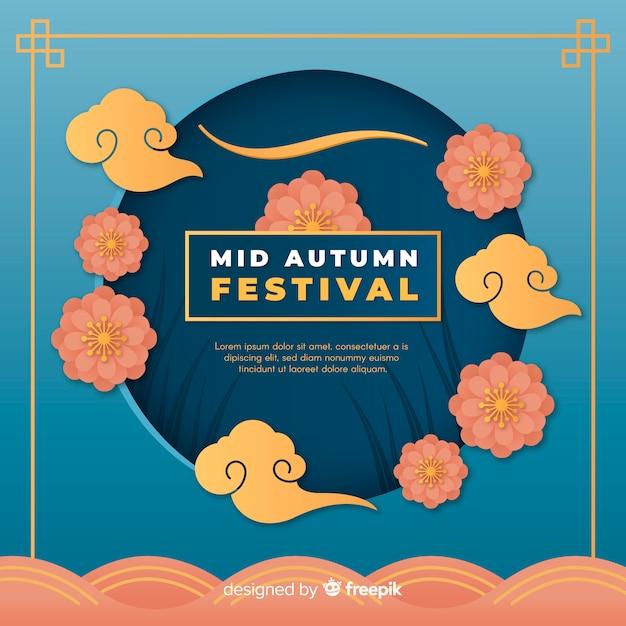 Metà composizione autunnale di festival con stile di carta Vettore gratuito