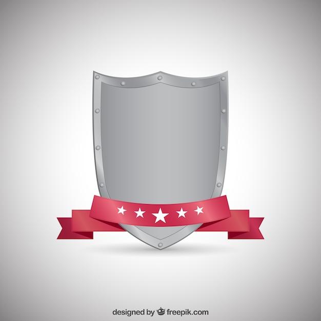 Metallic scudo medievale Vettore gratuito
