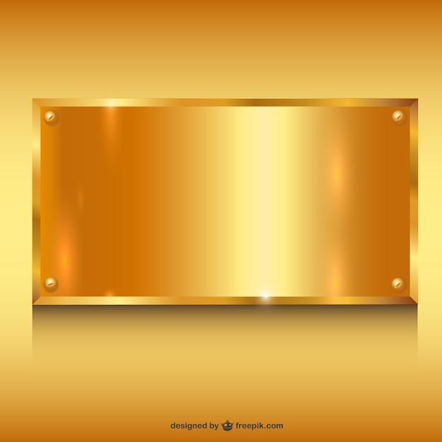Metallo oro banner background Vettore gratuito