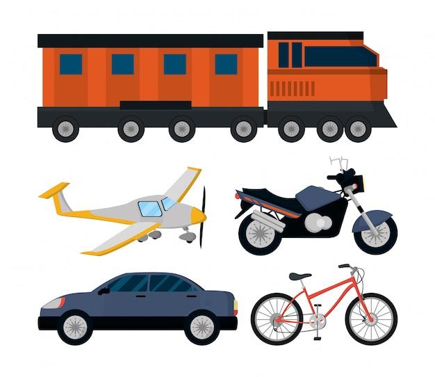 Mezzi di trasporto pubblico Vettore Premium