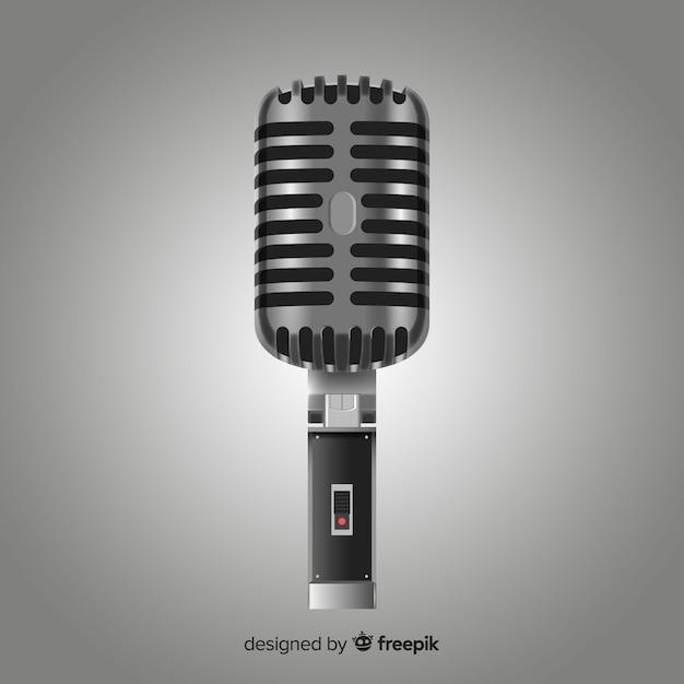 Microfono realistico Vettore gratuito